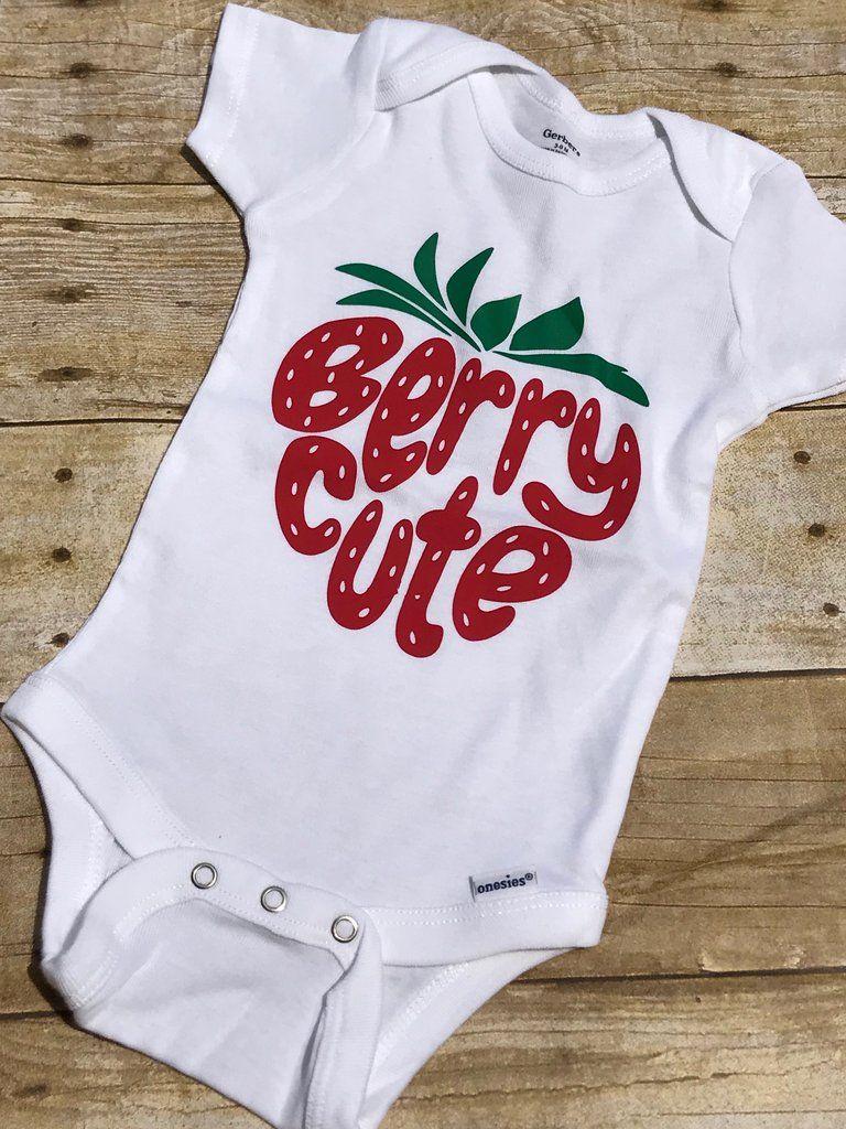 Berry Cute Onesie - white | Baby girl onesies diy