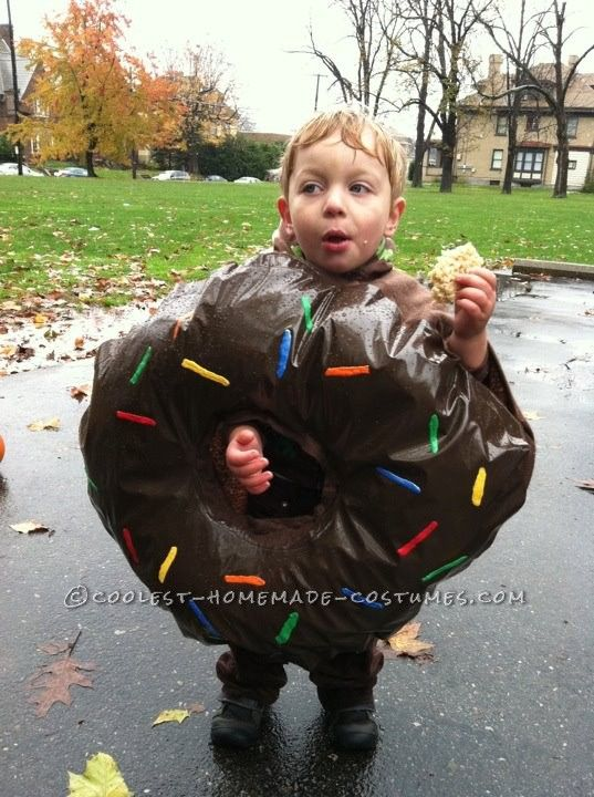 Easy Toddler Donut Costume Donut costume and Costumes - unique toddler halloween costume ideas