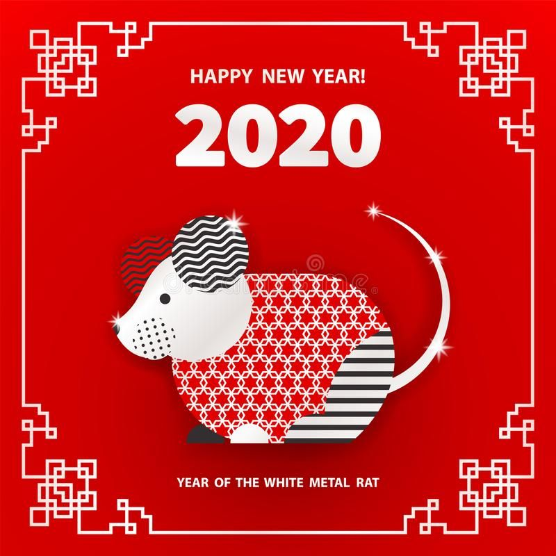 2020 Year of the RAT. Rat is a symbol of the 2020 Chinese