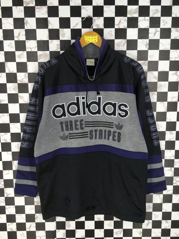 Adidas Trefoil Large Sweater Multicolour Vintage 90 S Adidas Run Dmc Three Stripes Sportswear Adidas Hip Hop Adidas Three Stripes Large Sweaters Adidas Trefoil [ 3000 x 2250 Pixel ]