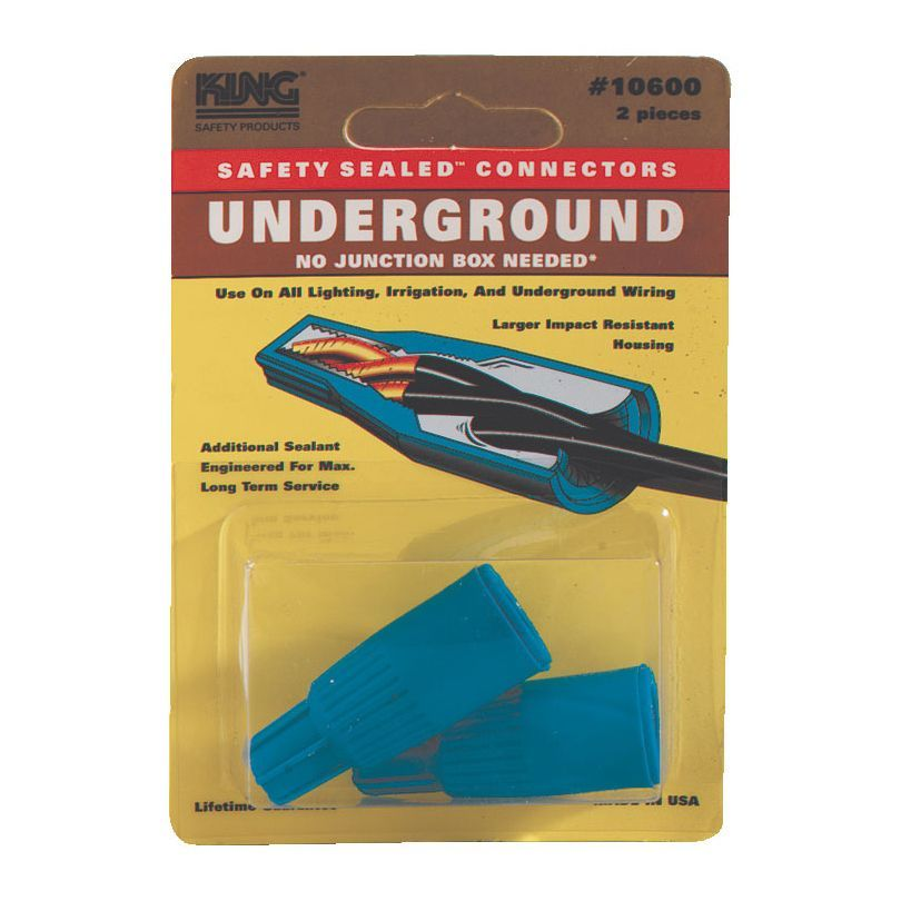 King Safety Products Blue Underground Wire Connectors 2-count (Other electrical), Black