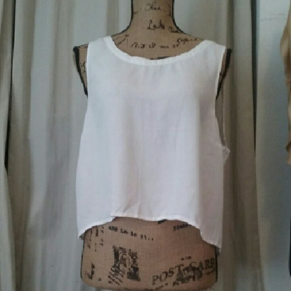 TOP White crop top Cotton On Tops