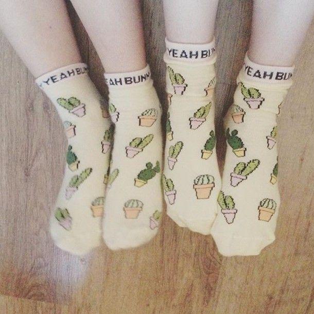Cactus Socks yeahbunny.etsy.com  10% OFF with code YBPINTEREST