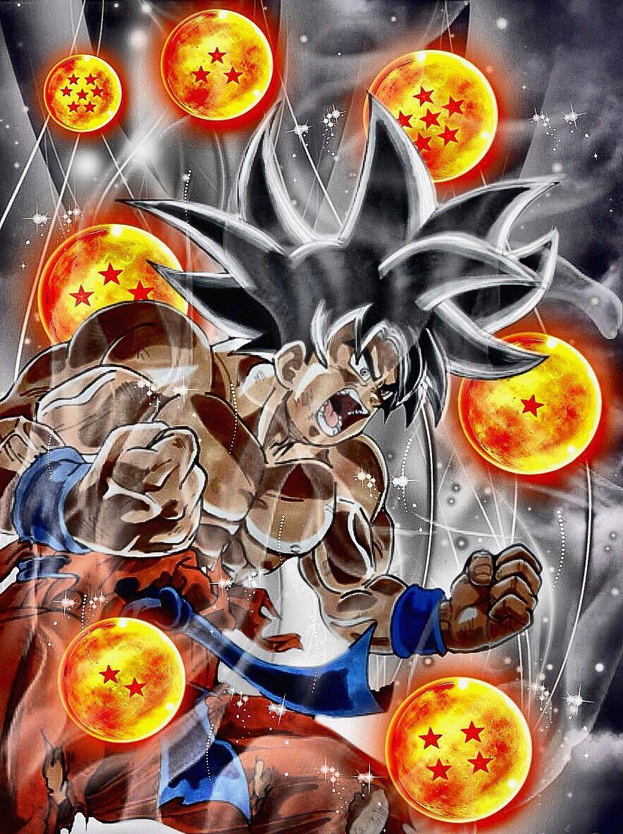 Goku Powers Up With Dragon Balls Dessin Goku Idees De Tatouages