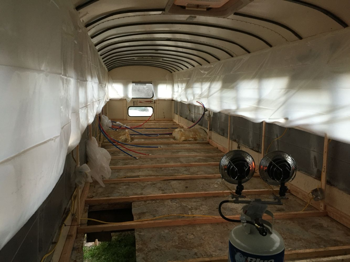 Spray foam insulation for house - Ready For Closed Cell Spray Foam Insulation School Bus Tiny House Conversion Tristan Beache