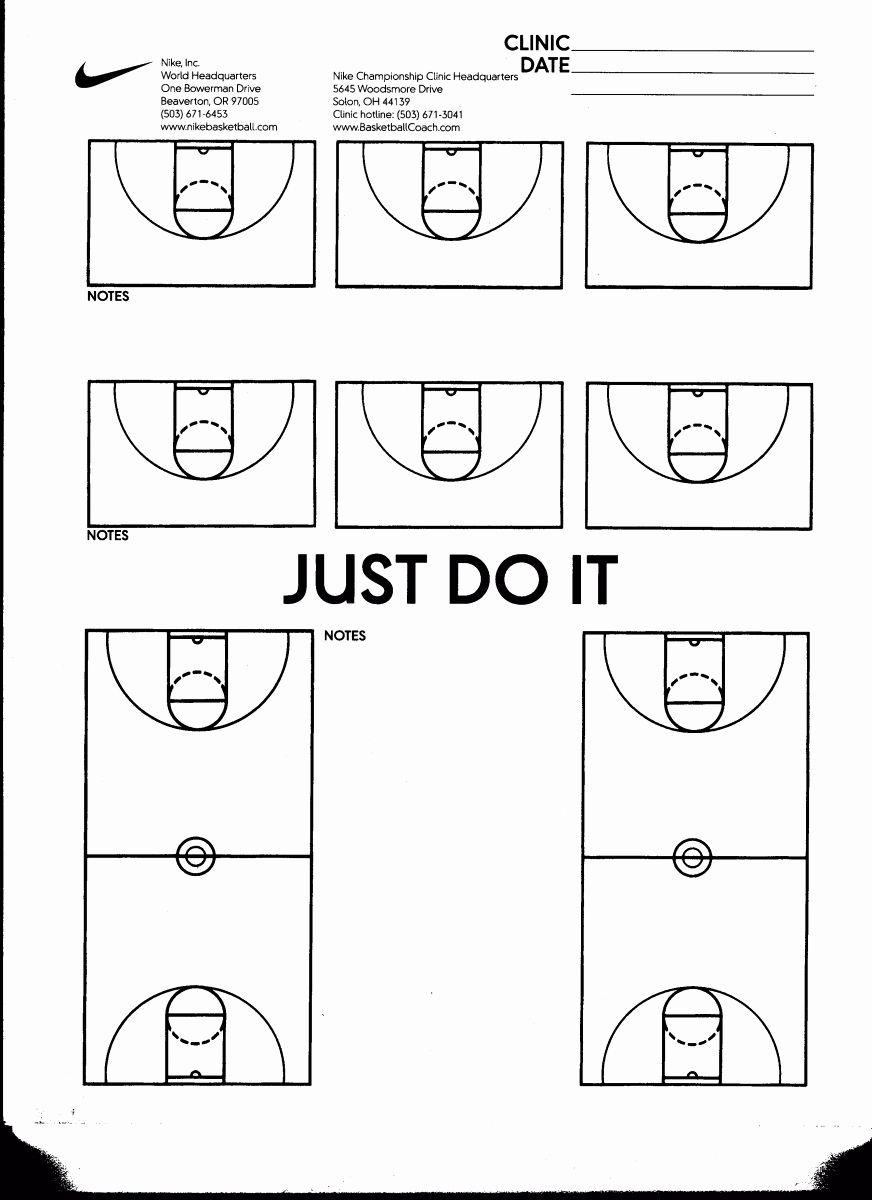 Basketball Half Court Diagram : basketball, court, diagram, Blank, Basketball, Practice, Template, Awesome, Court, Diagrams, Plays, Plans,, Practice,