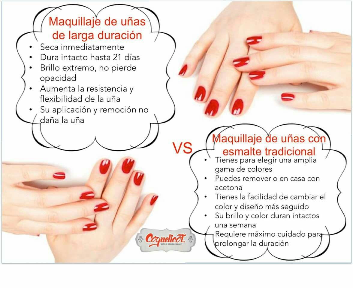 Maquillaje de uñas clásico VS Maquillaje de uñas de larga duración ...