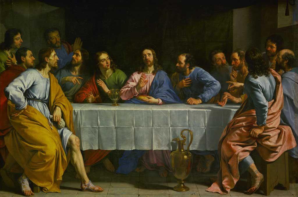 Spiritual Communion Prayer Card Pc 118 The Last Supper Painting