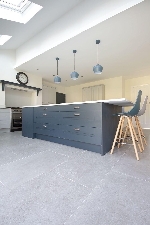 Dove Grey Stone Effect Porcelain Tiles Porcelain Tiles Mystonefloor Modern Kitchen Flooring Grey Tiles Living Room Open Plan Kitchen Living Room