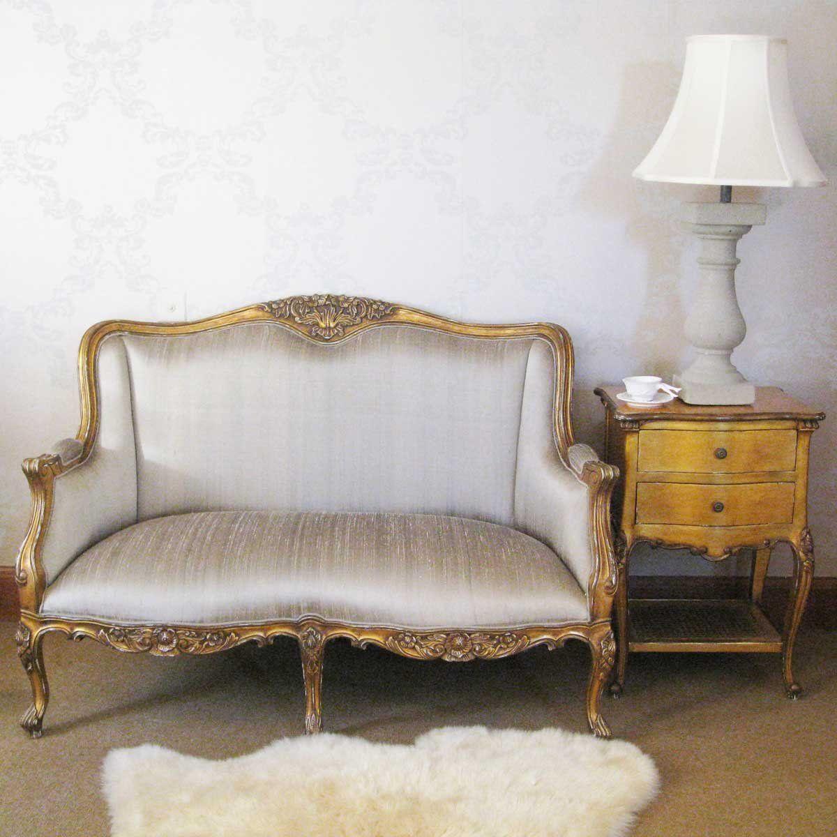 Palais De Versailles Gold Bedroom Sofa