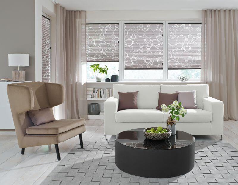 Wohnzimmer Rollos ~ Wohnzimmer plissee hellbraun ❤ vielfältige plissees ❤ bezaubernde