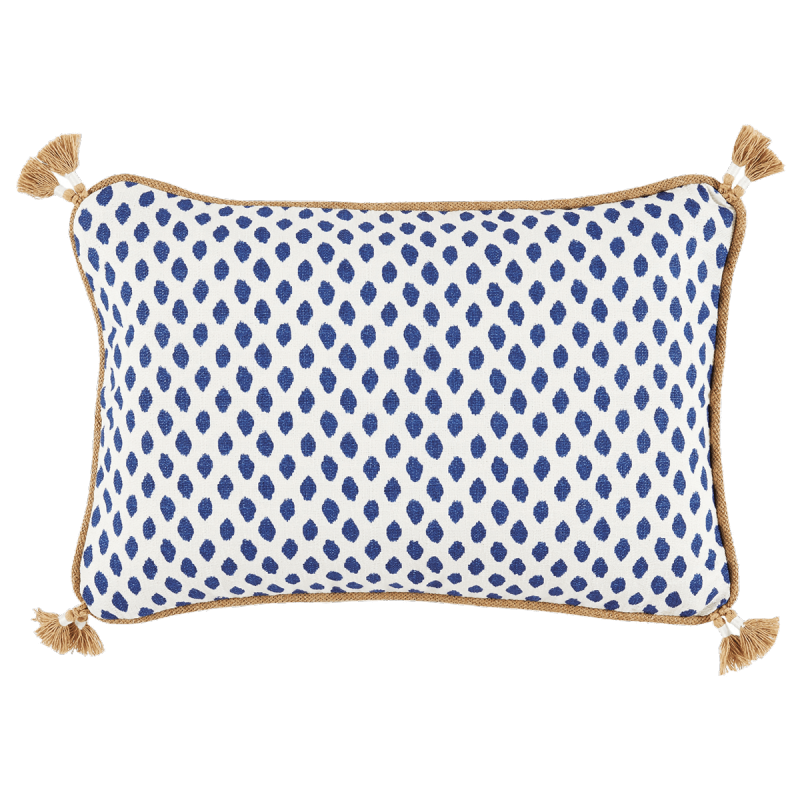 Lacefield Sahara Midnight Blue And White Decorative Tassel Pillow Classy Decorative Tassel Pillows