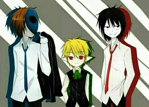Eyeless Jack, Ben Drowned, Jeff the Killer, suits, outfits ...
