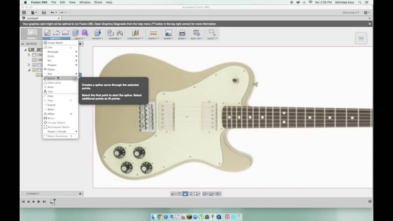 Design A Guitar Body In Fusion 360   3d prints   Guitar
