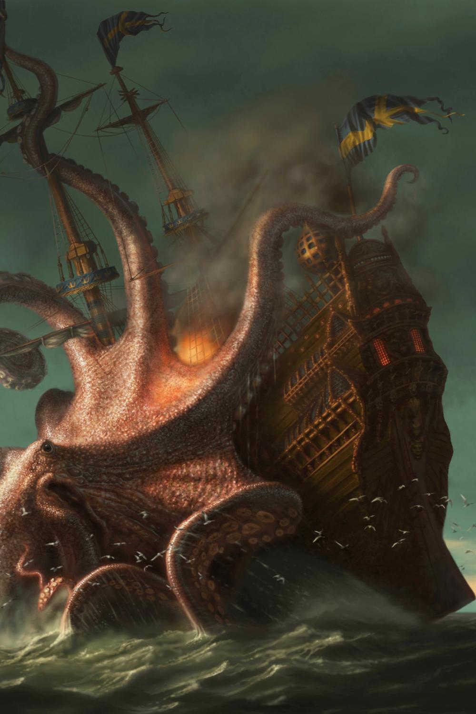 Creatures In Norse Mythology Kraken Sea Monster Sea Monsters Sea Monster Art