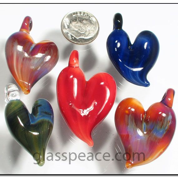 Glass heart pendants wholesale 5 pack by glass peace glass glass heart pendants wholesale 5 pack by glass peace aloadofball Gallery