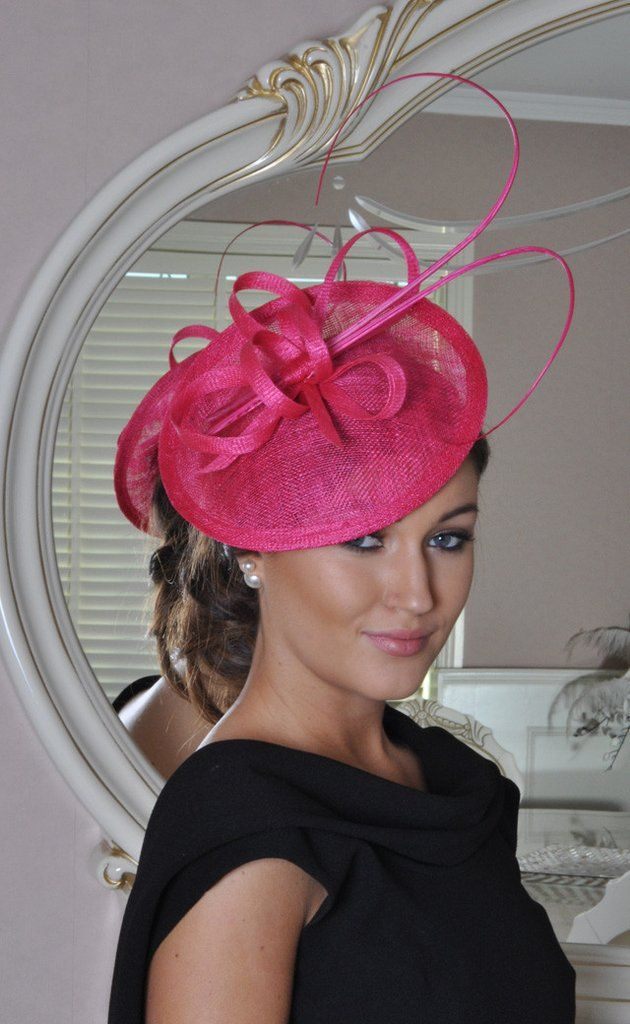 Pink Fascinator Home Products Jenna Cerise