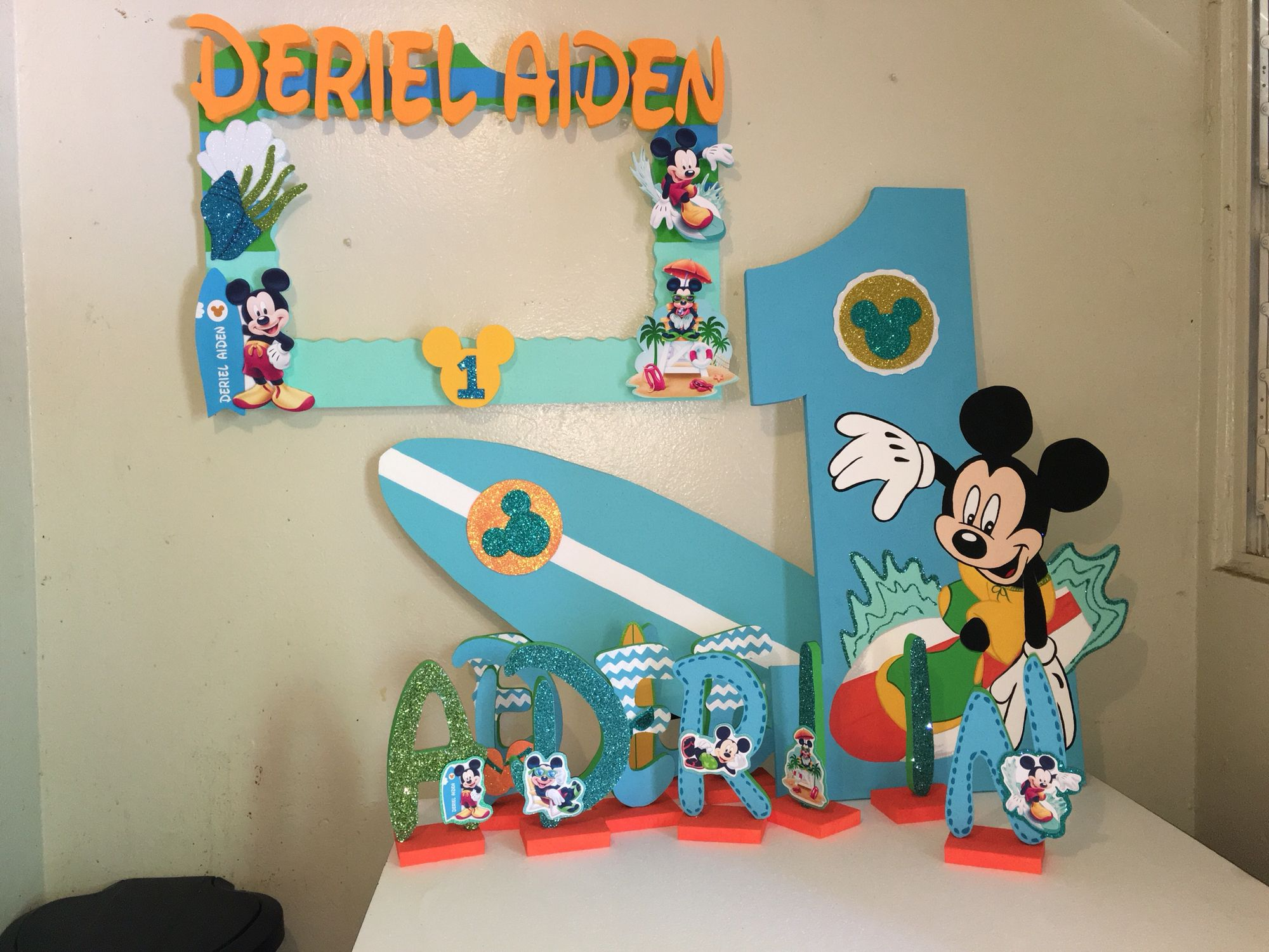 Mickey Mouse Surfer Decoration All Foam With Images Surf