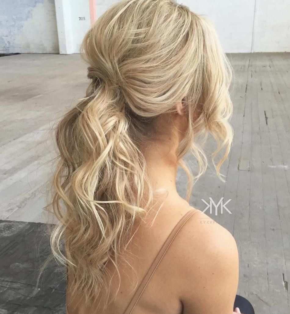 30 eye-catching ways to style curly and wavy ponytails   beauty