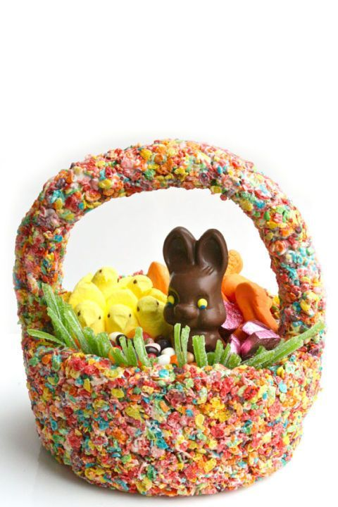 38 super cute easter basket ideas basket ideas homemade easter edible cereal easter basket your kids will be delighted with this homemade easter basket thats negle Gallery