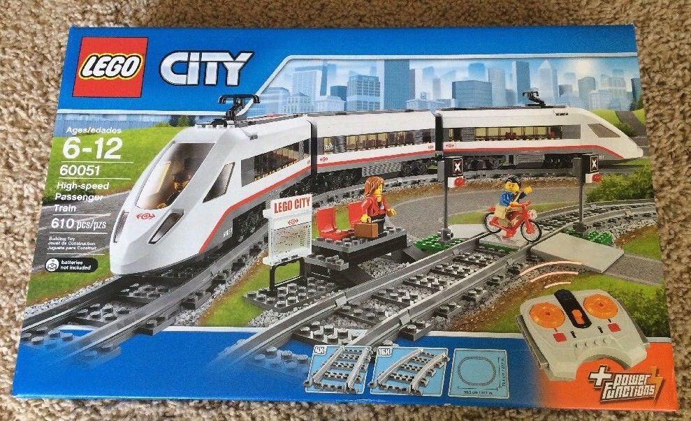 Lego Trains High Speed Passenger Train 60051 Motorized Remote Control New Set Lego City Lego City Train Lego Trains