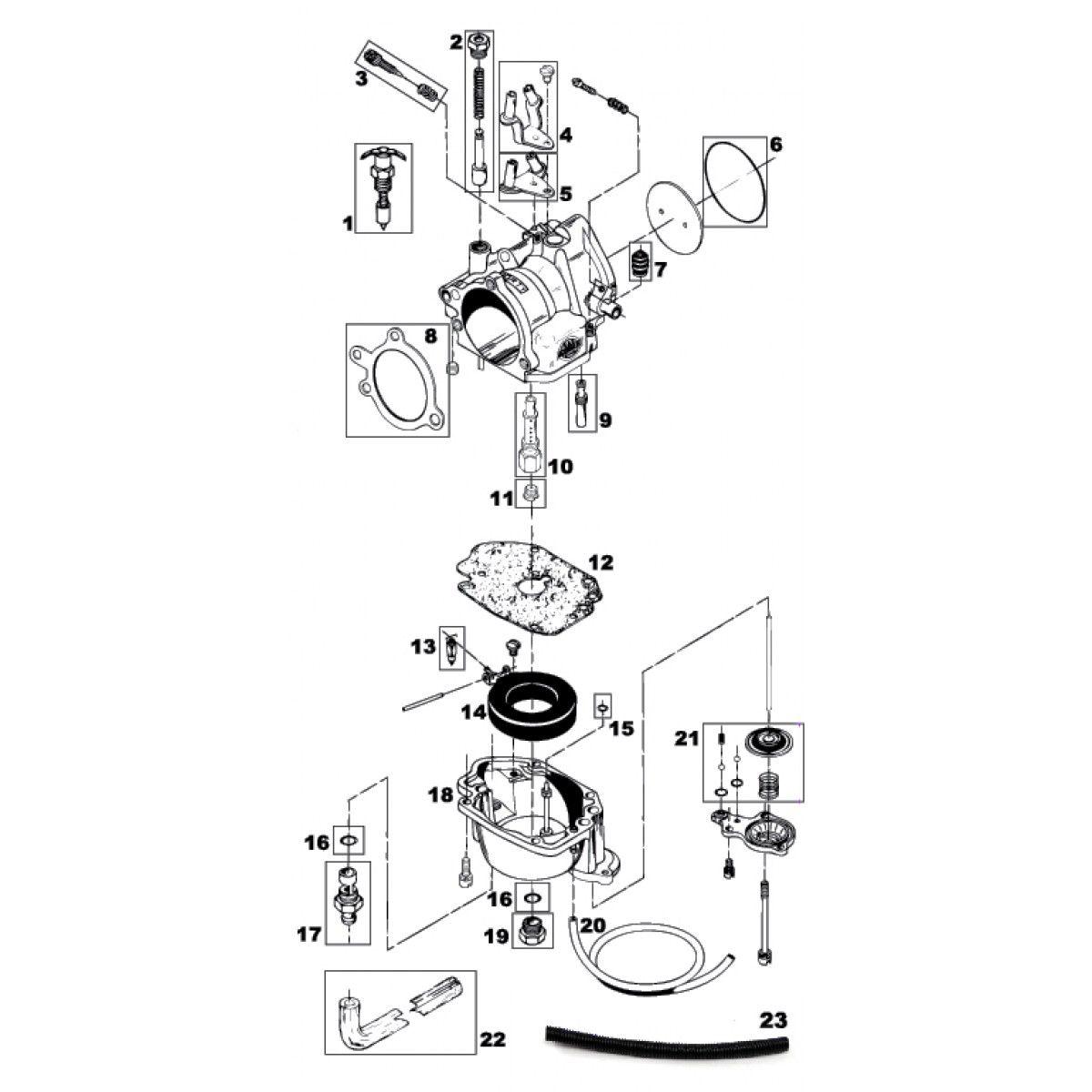 honda motorcycle carb diagrams