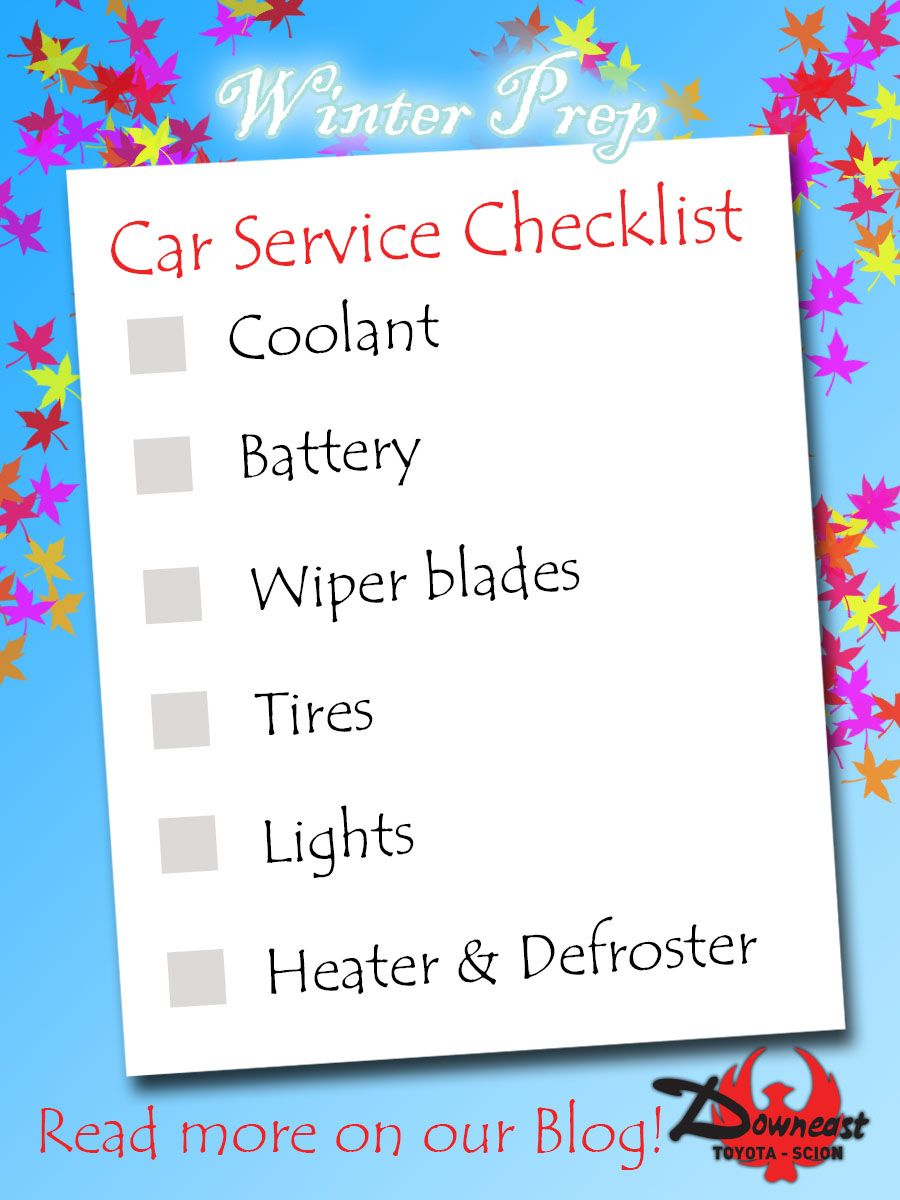 Make sure your car is ready for the coming cold weather