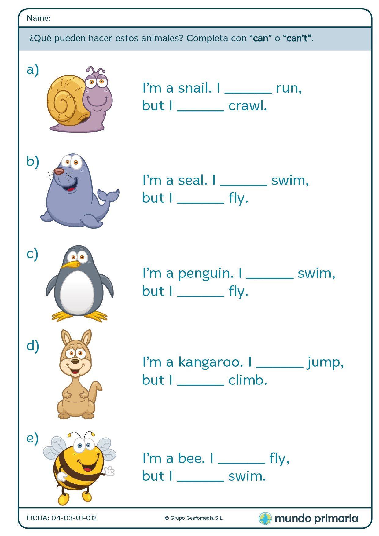 Fichas De Grammar Para 2o De Primaria