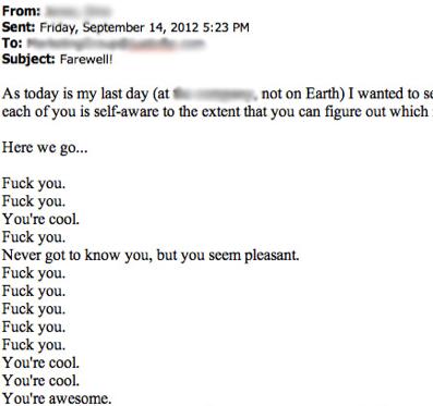 the greatest resignation letter ever written