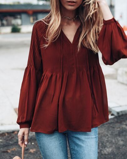c679f9fe33df burgundy deep red brown loose top