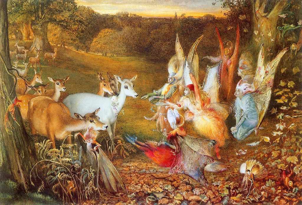 The Enchanted Forest by John Anster Christian Fitzgerald, (1819 - 1906) |  Vintage fairies, Art, Art prints