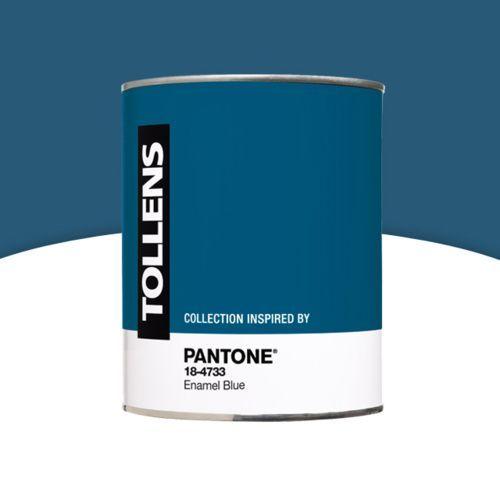 Pantone - Peinture murs et boiseries Enamel Blue 1L Peintures d - Peindre Un Mur Interieur