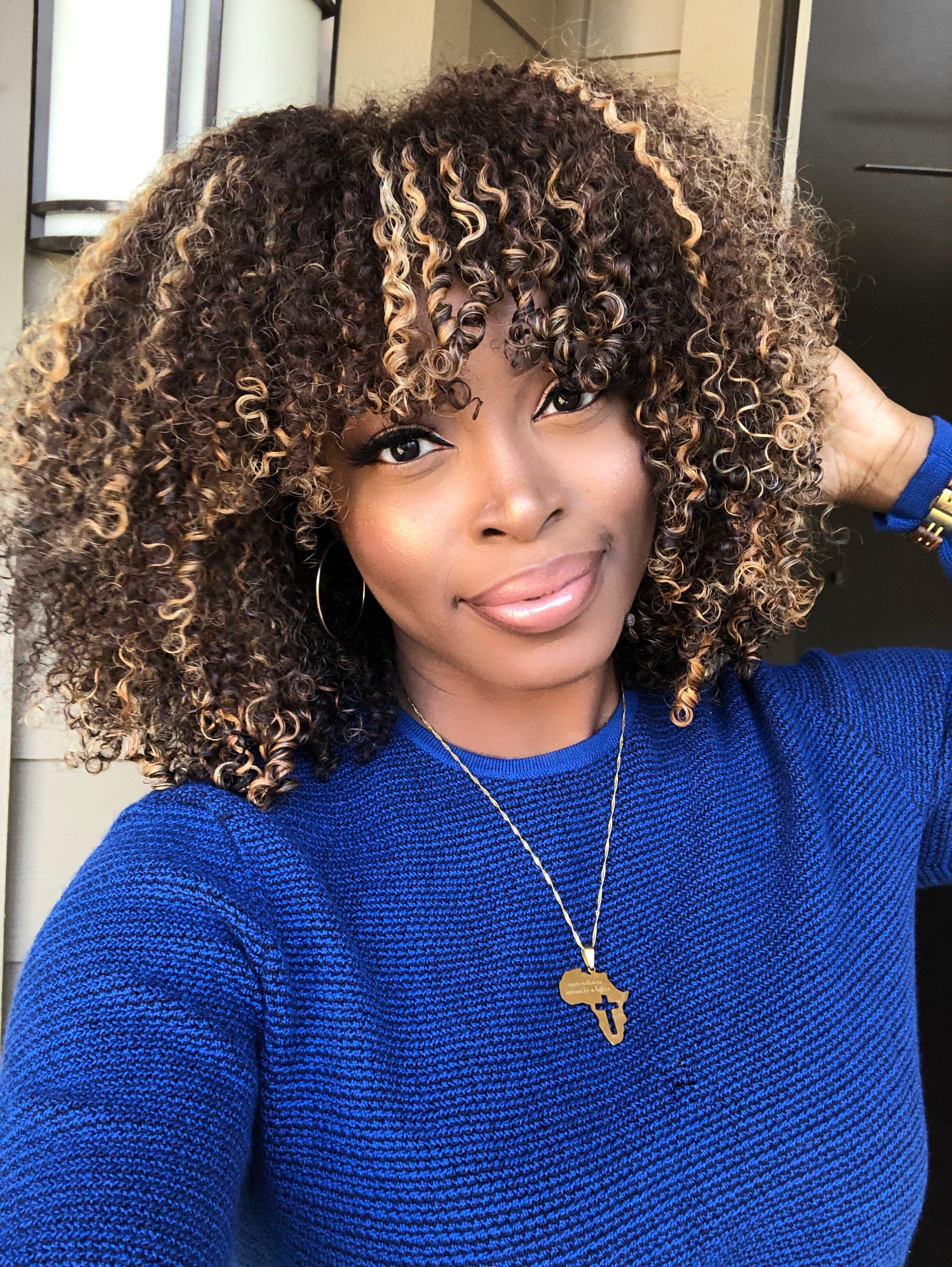 Beautiful Highlights On Natural Hair Wig Blonde Ombre Msnaturallymary Natural Hair Highlights Natural Hair Styles Natural Hair Color