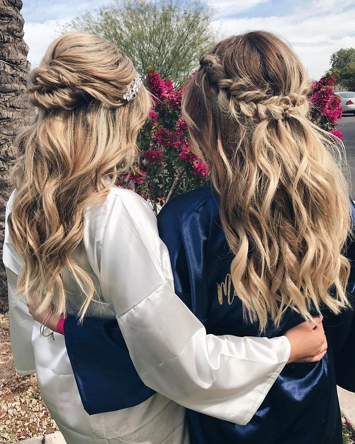 10 Glamorous Half Up Half Down Wedding Hairstyles From: Beautiful Half Up And Half Down Hairstyles For Romantic Brides