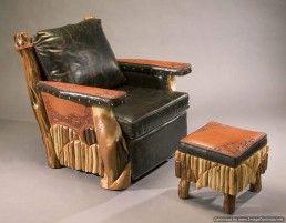 western leather club chair
