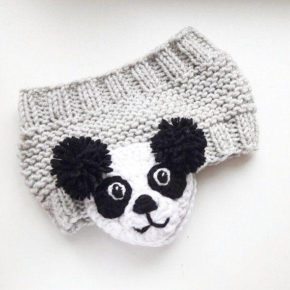 Panda Headband, Knit Headband, Ear Warmer, Head Wrap, Girls Headband ...