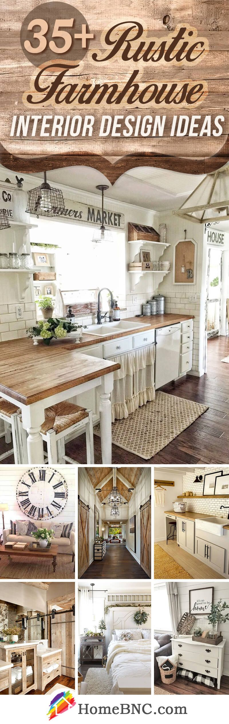 35+ Rustic Farmhouse Interior Design Ideas that will Inspire Your ...