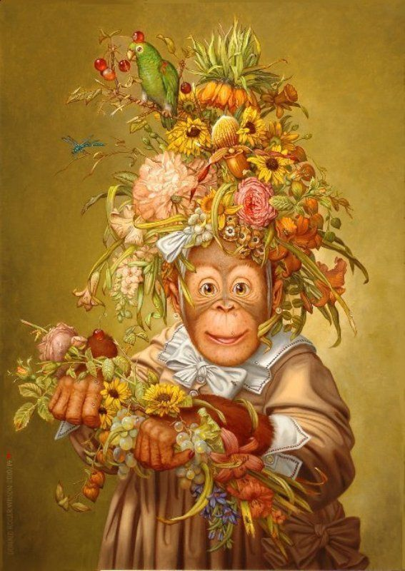картинки обезьян для декупажа