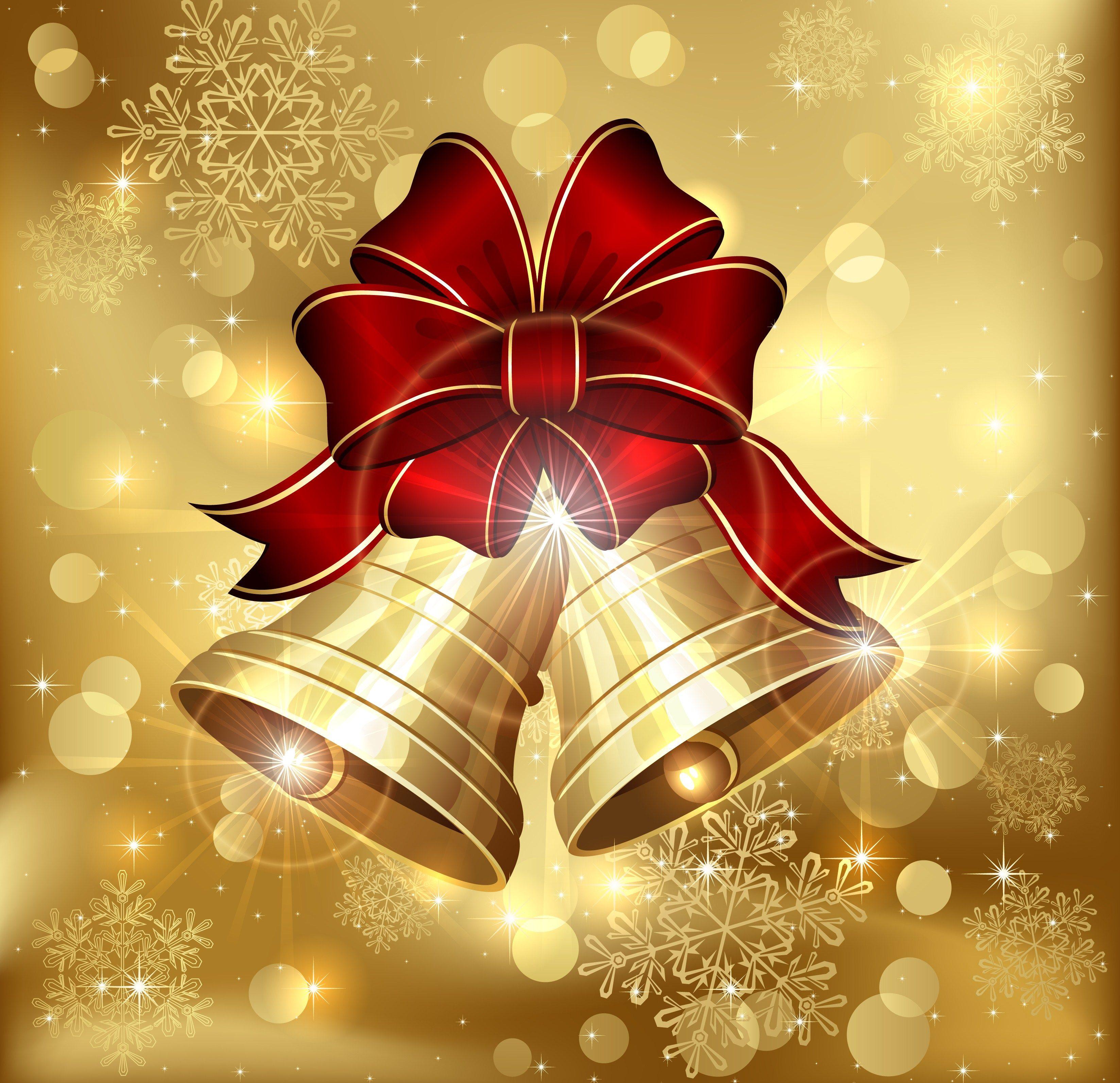 Christmas Bells Wallpaper Figuras De Navidad Navidad Y