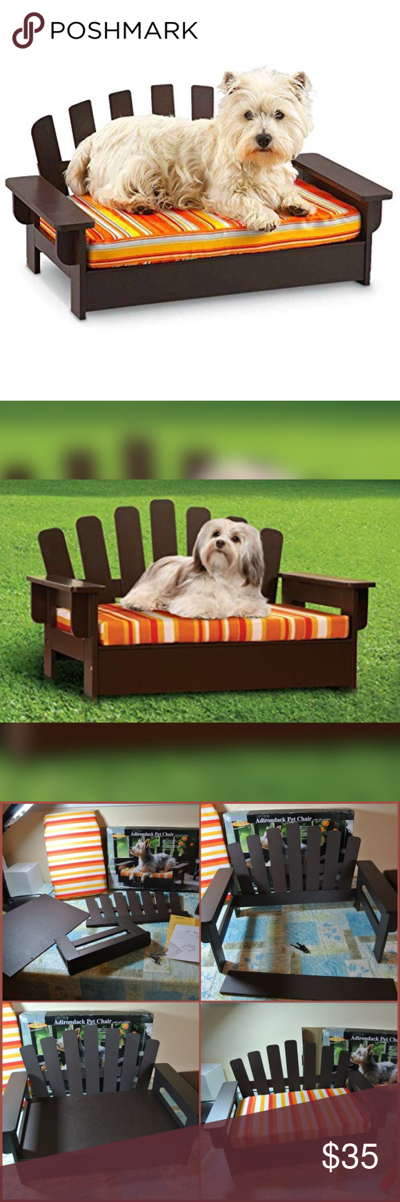 Wooden Pet Chair W Cushion For Dog Or Cat Box Was Ripped During Shipping But The Not Damaged Please See Last Photo Details