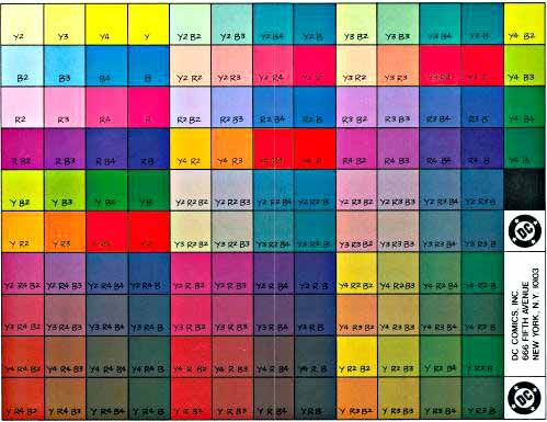 DC Colors expanded on cover stock Drawing Tutorials Pinterest - cmyk color chart