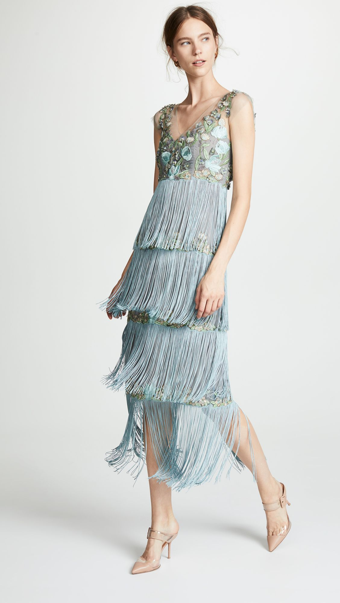 cf00dbd1cd32 Find and compare Marchesa Notte Tiered V Neck Gown across the world's  largest fashion stores!