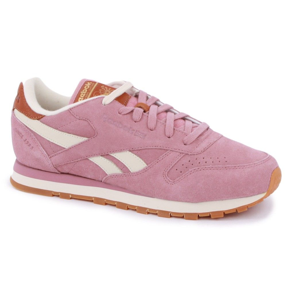 d123782d920 Reebok Classic Leather Suede Womens Trainers in Light Pink
