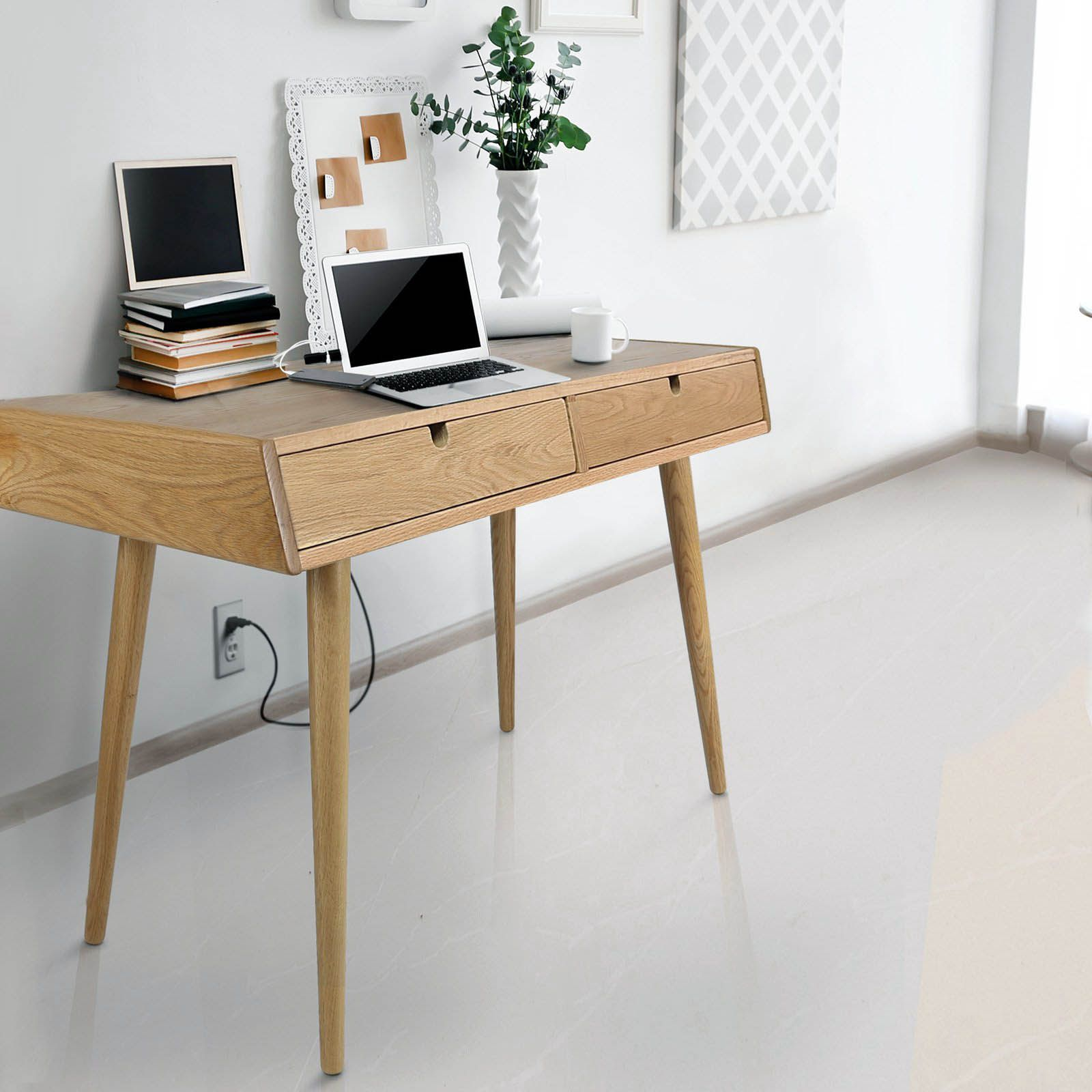 Cozy Mid Century Modern Standing Desk For Your Home Solid Wood Writing Desk Wood Writing Desk Solid Oak Desk
