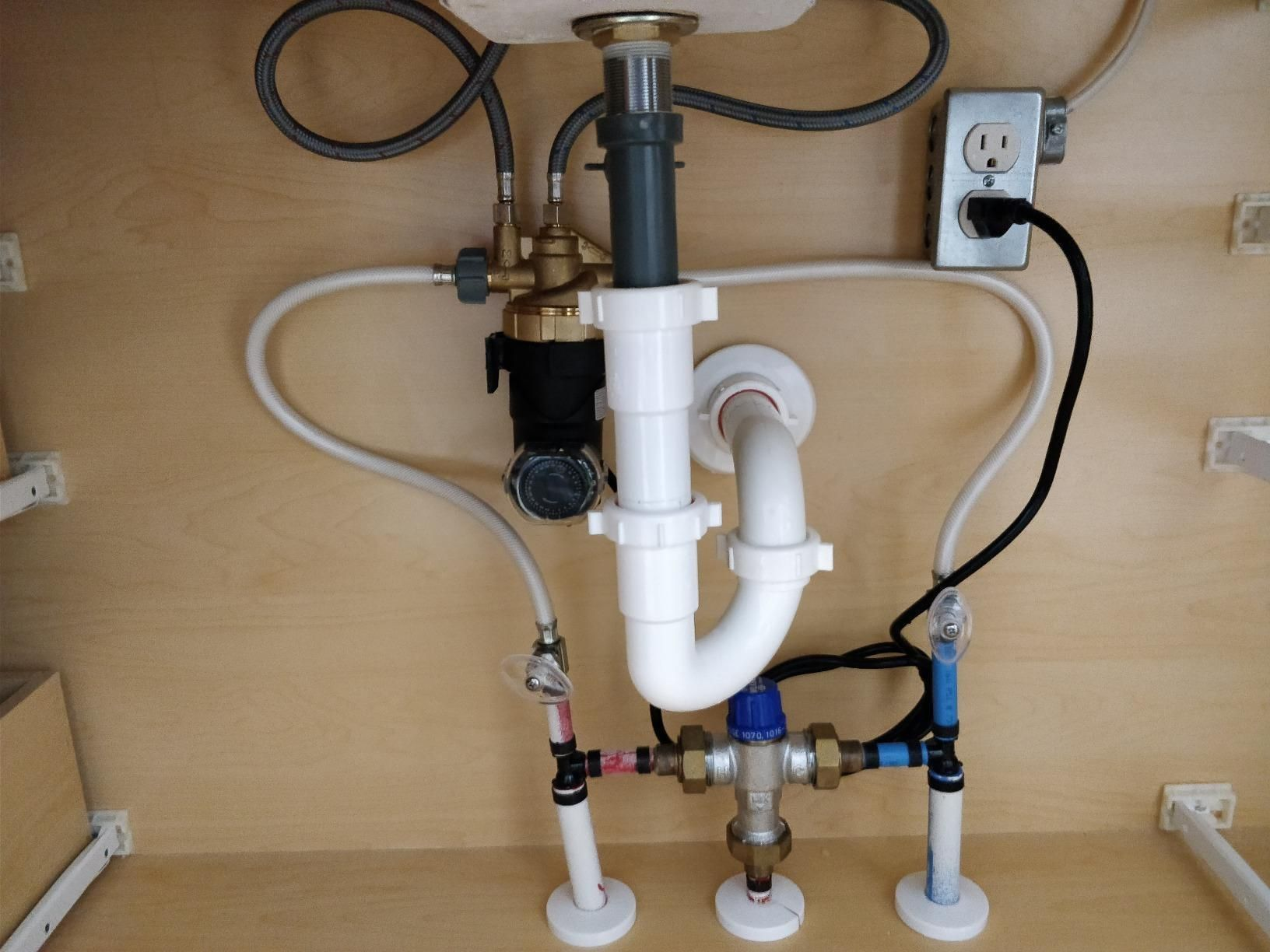 The Auto Circ Pump Is Installed Under Sink Or Faucet