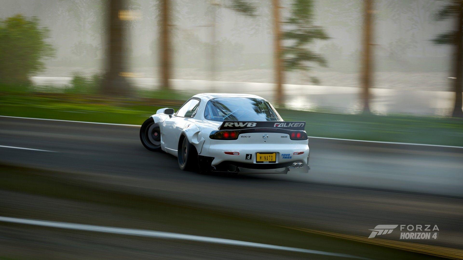 Forza Horizon 4 RX7 drifting Forza horizon, Forza