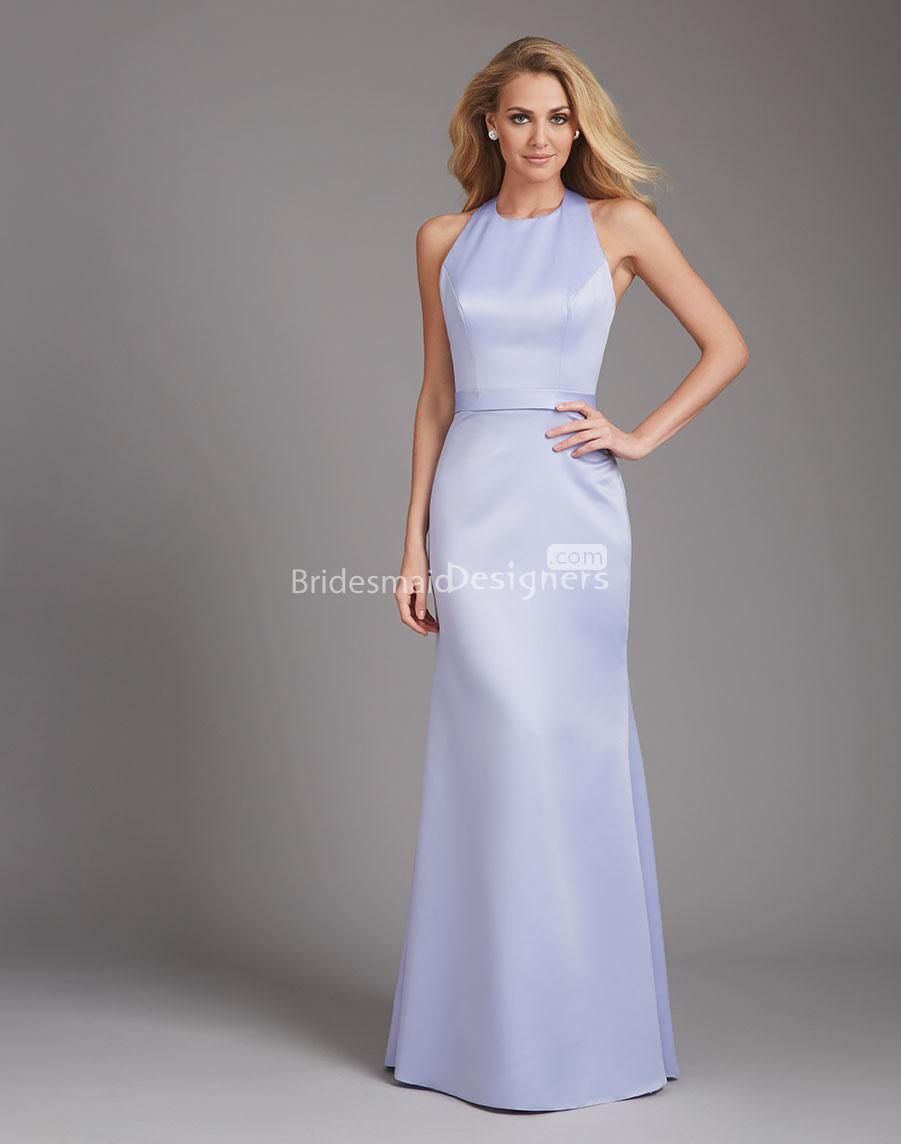 Simple structured high necked halter long bridesmaid gown simple structured high necked halter long bridesmaid gown ombrellifo Choice Image