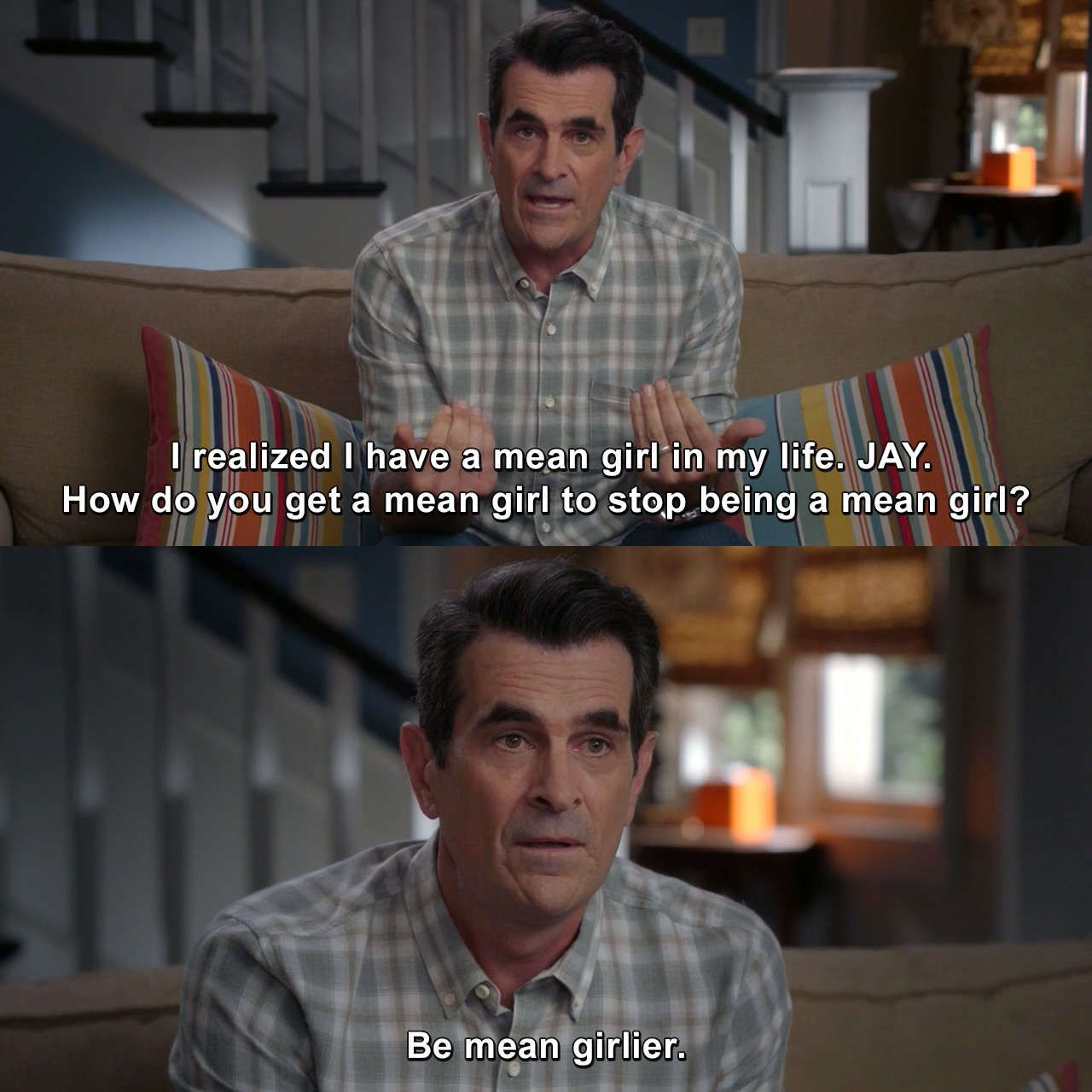 Modern Family Kiss And Tell Phildunphy Modernfamily Kissandtell Tv Meme Modern Family Quotes Modern Family Memes Modern Family Funny
