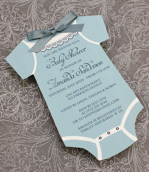 Baby Shower Invitation Template Boys Onsie Bun In The