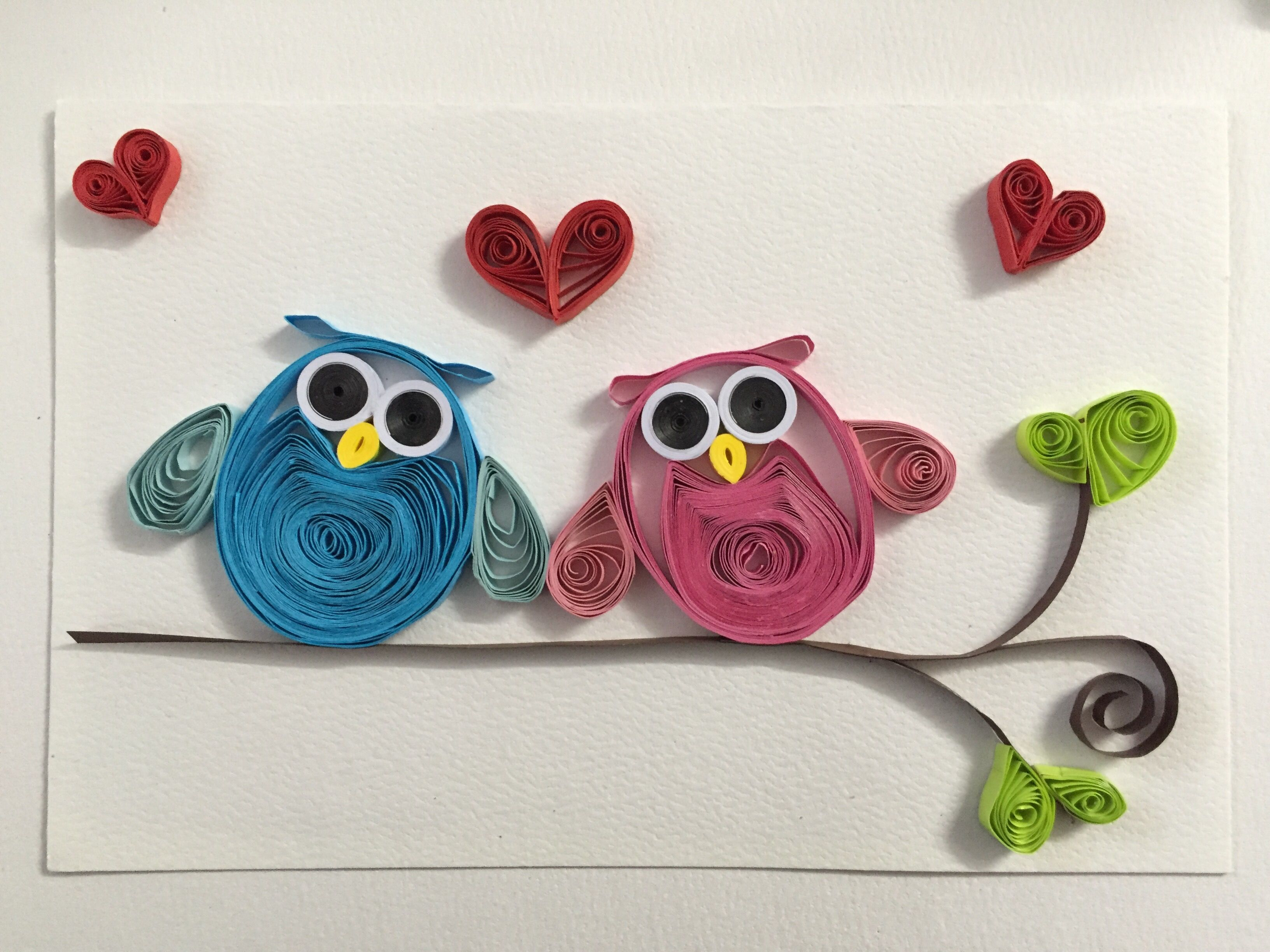 Owls paper quilling card cards to make pinterest owl paper craft owls paper jeuxipadfo Choice Image
